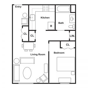 AHEPA-Highland Apartments Floor Plan Image 2