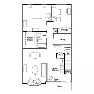Belmont Villas Senior Apartments Floor Plan Image 2