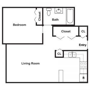Black Brook Senior Housing Floor Plan Image 1