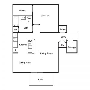 Brookside Apartments Floor Plan Image 1