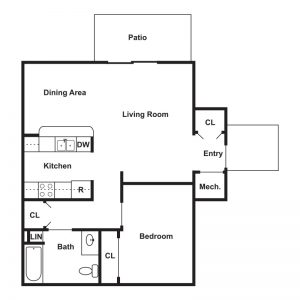 Brookside Apartments Floor Plan Image 2