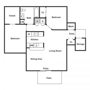 Brookside Apartments Floor Plan Image 4