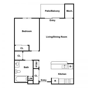 Conifer Village at Cambridge Senior Apartments Floor Plan Image 1