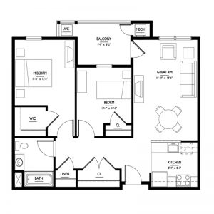 Conifer Village at Cape May Senior Apartments Floor Plan Image 1