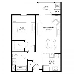 Conifer Village at Cape May Senior Apartments Floor Plan Image 2
