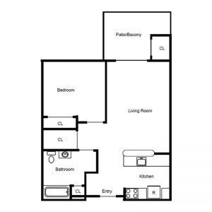 Conifer Village at Interlaken Apartments Floor Plan Image 1