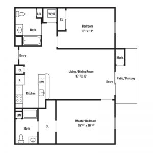 Conifer Village at Middletown Apartments Floor Plan Image 1