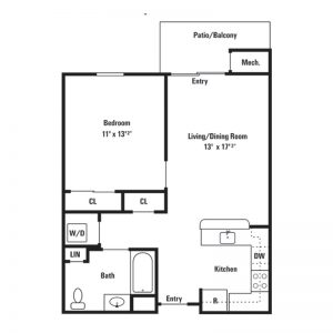 Conifer Village at Middletown Apartments Floor Plan Image 2