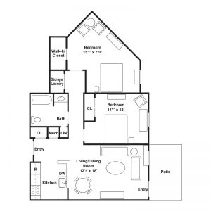 Conifer Village at Patchogue Senior Apartments Floor Plan Image 1