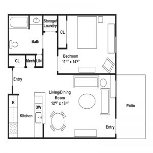 Conifer Village at Patchogue Senior Apartments Floor Plan Image 2