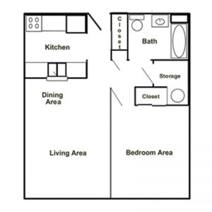 Canisteo Manor Apartments Floor Plan Image 1