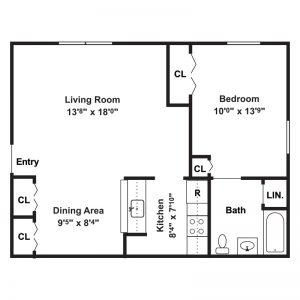 Canton Apartments Floor Plan Image 1