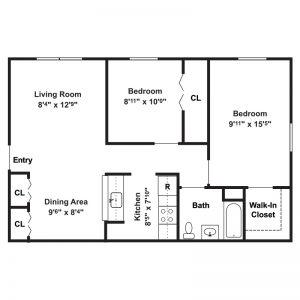 Canton Apartments Floor Plan Image 2