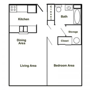 Carrollton Heights Apartments Floor Plan Image 2