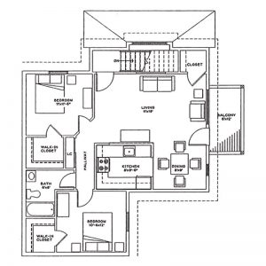 Cayuga View Apartments Floor Plan Image 1