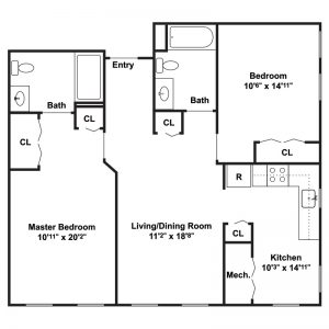 Chestnut Station Senior Apartments Floor Plan Image 1