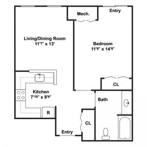Chestnut Station Senior Apartments Floor Plan Image 2
