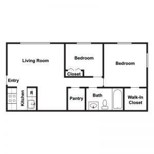 Circle Drive Apartments Floor Plan Image 2