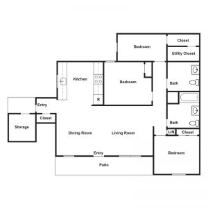Claire Court Apartments Floor Plan Image 1