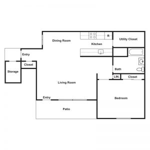 Claire Court Apartments Floor Plan Image 2