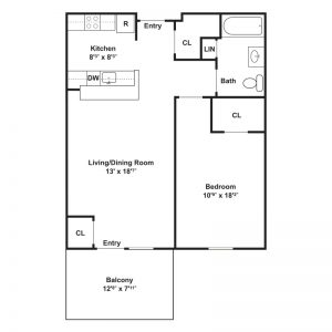 Cornwells Heights Senior Apartments Floor Plan Image 1