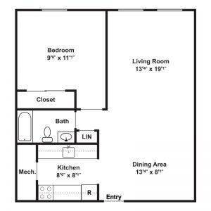 East Court Apartments Floor Plan Image 2