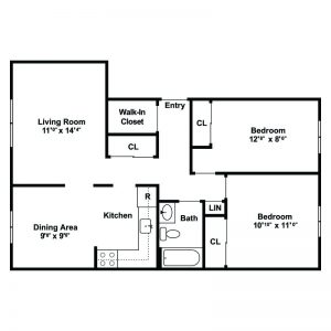 F.I.G.H.T. Village Apartments Floor Plan Image 2