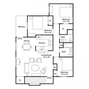 Fairside Apartments Floor Plan Image 1
