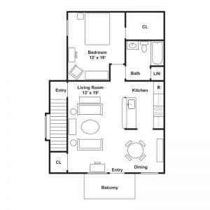 Fairside Apartments Floor Plan Image 3