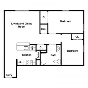 Ferry Manor Senior Apartments Floor Plan Image 3