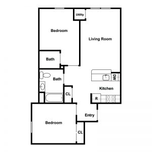 Ferry Manor Senior Apartments Floor Plan Image 8