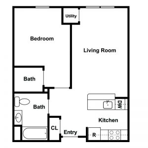 Ferry Manor Senior Apartments Floor Plan Image 9