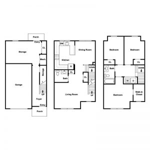 Foxtail Crossing Townhouses Floor Plan Image 1