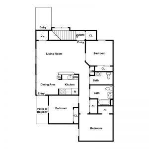 Geneva Greens Apartments Floor Plan Image 1