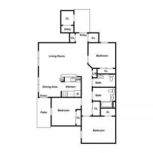 Geneva Greens Apartments Floor Plan Image 2