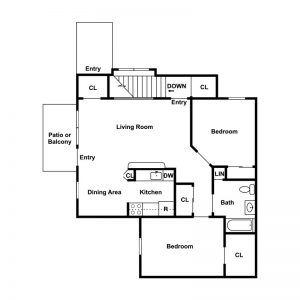 Geneva Greens Apartments Floor Plan Image 4