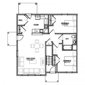 Green Heron Point Apartments Floor Plan Image 2