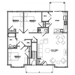 Green Heron Point Apartments Floor Plan Image 3