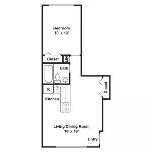 Harris Park Apartments Floor Plan Image 1
