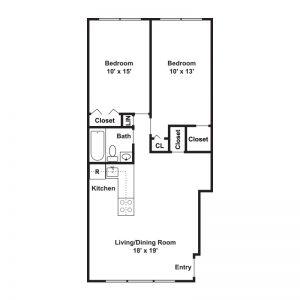 Harris Park Apartments Floor Plan Image 2