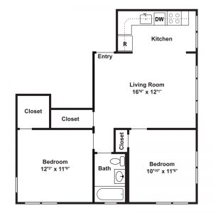 Hillside Apartments Floor Plan Image 2
