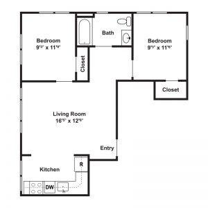Hillside Apartments Floor Plan Image 3