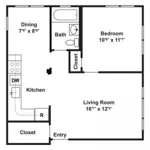 Hillside Apartments Floor Plan Image 4
