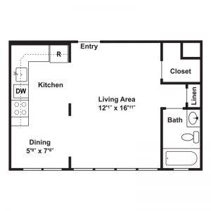 Hillside Apartments Floor Plan Image 5