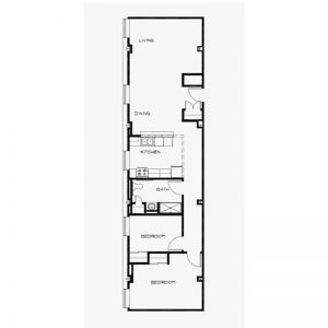 Jerome Senior Apartments Floor Plan Image 1