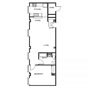 Jerome Senior Apartments Floor Plan Image 2