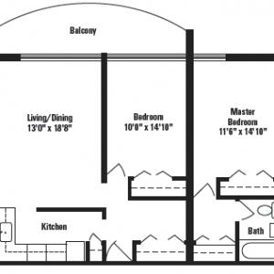 Keeler Park Apartments Floor Plan Image 2