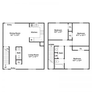 Kelly Meadow View Townhomes Floor Plan Image 1