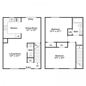 Kelly Meadow View Townhomes Floor Plan Image 2
