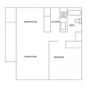 Knoxville Senior Apartments Floor Plan Image 1